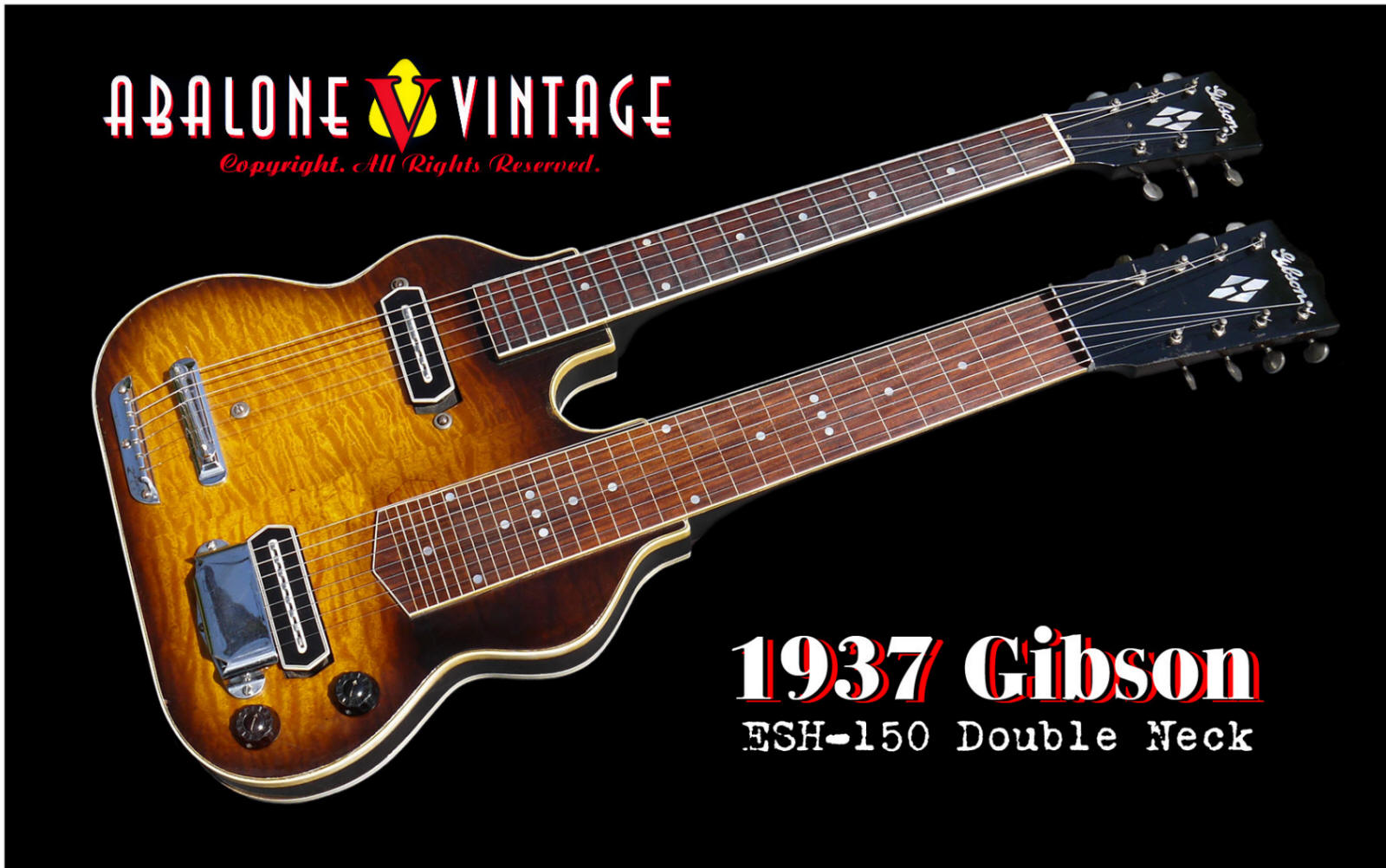 1937 Gibson ESH-150 double neck guitar 1938 Pre-war
