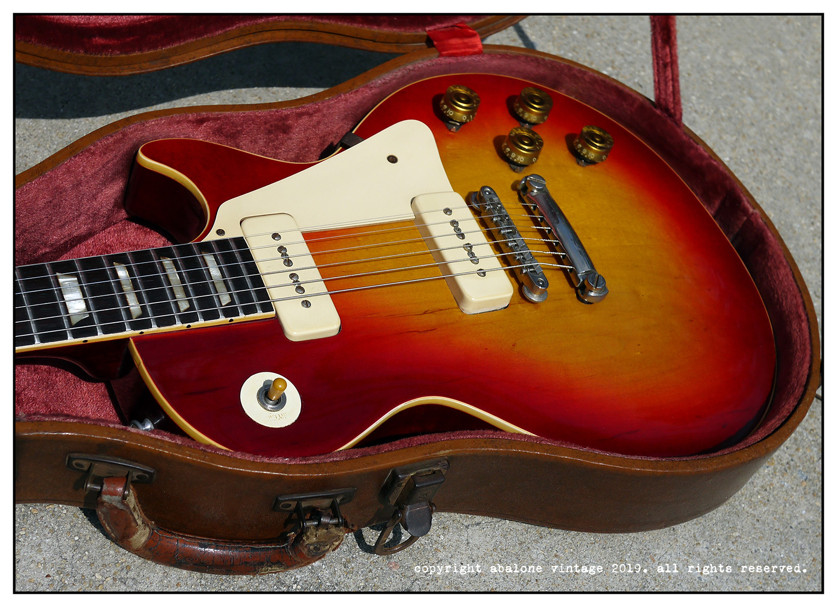 1953 Gibson Les Paul Standard guitar factory 1960 conversion.