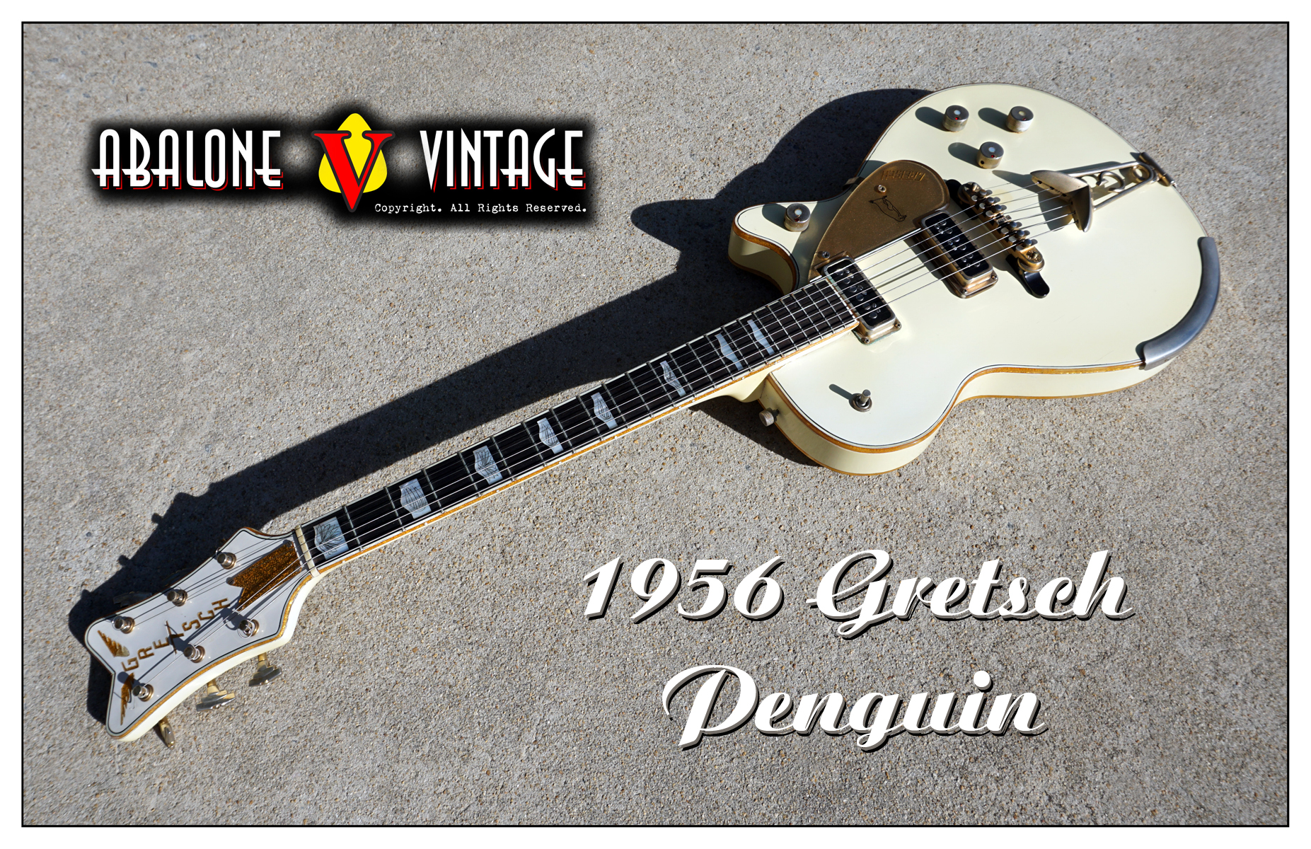 1956 Gretsch White Penguin guitar Original vintage