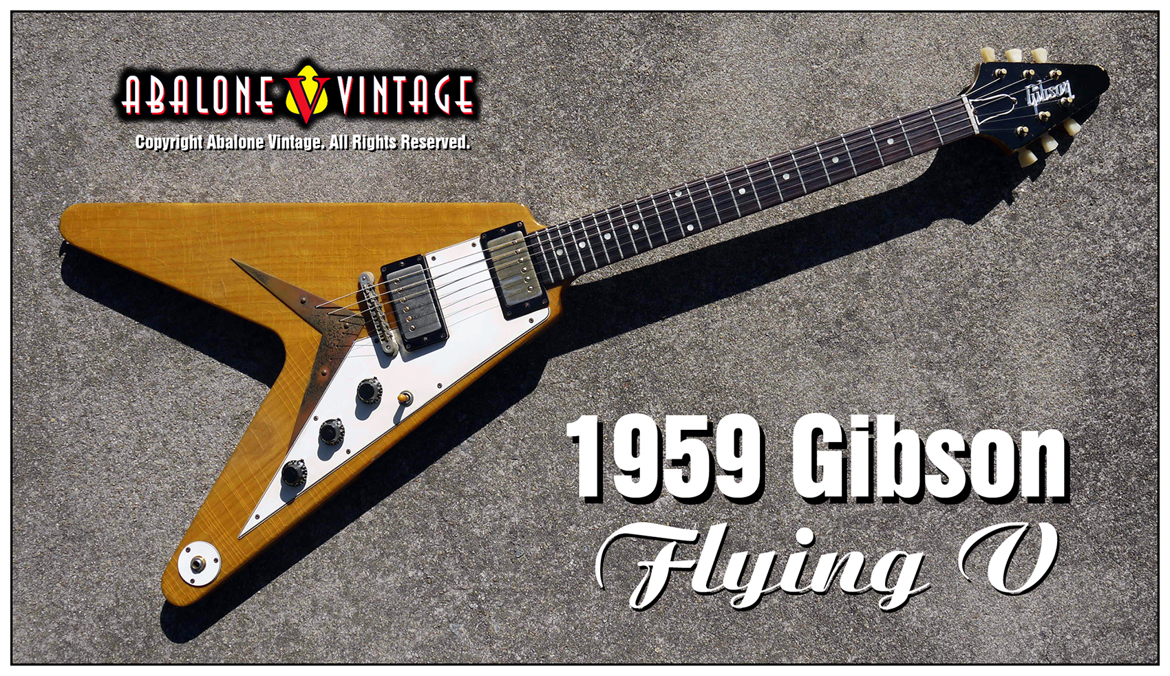 1959 Gibson Flying V guitar. Korina futuristic guitars. Explorer.