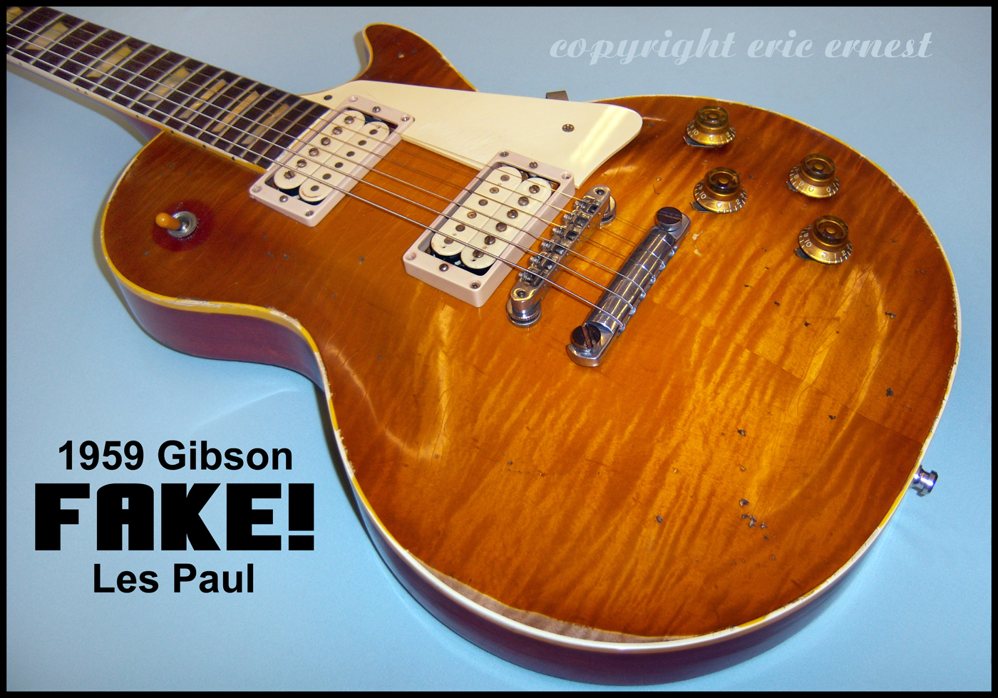 Fake 1959 Gibson Les Paul guitar Forgery replica les paul copy fake replica Gibson guitars hire an expert authentication specialist