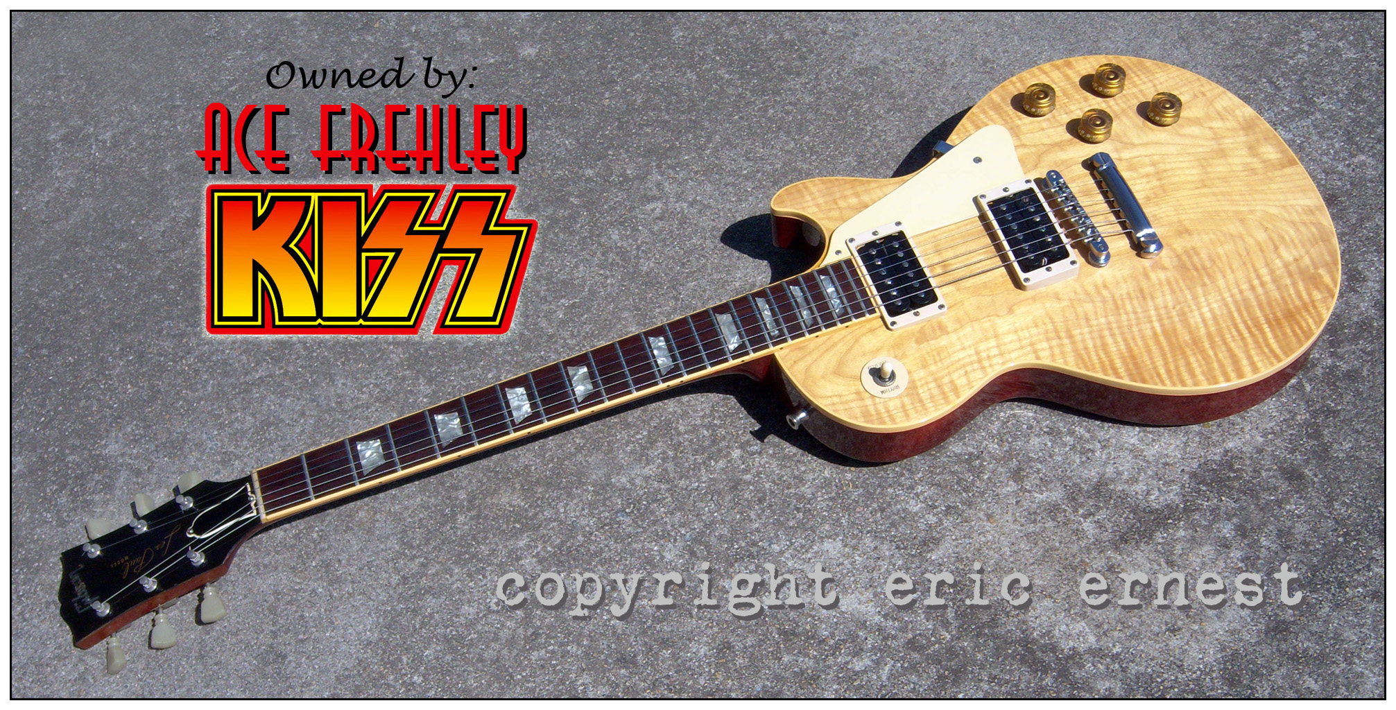 Ace Frehley of KISS | 1975 Gibson Les Paul Strings and Things guitar tour owned live collection