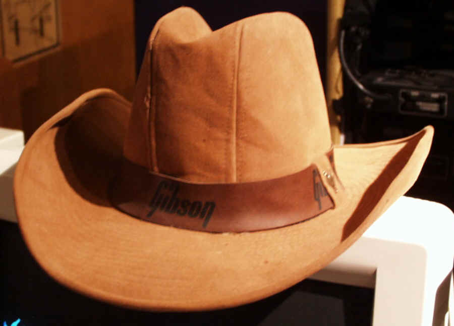vintage gibson guitars dealer display cowboy hat. Black Bedroom Furniture Sets. Home Design Ideas
